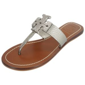 Tory Burch Moore pebbled leather thong sandal